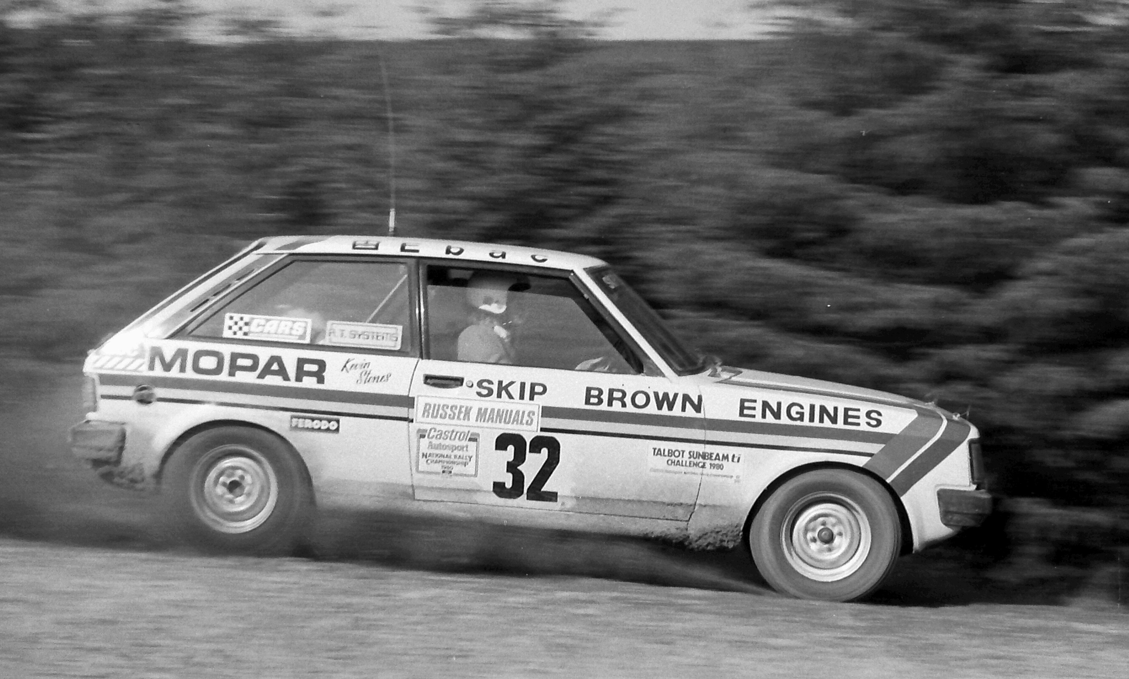Kevin Stones Peter Russels Rally 1980